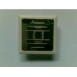 Respirador cuadrado blanco/niquelado con arandela de chapa