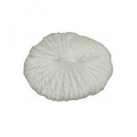 Rosette redonda de lana sin anilla